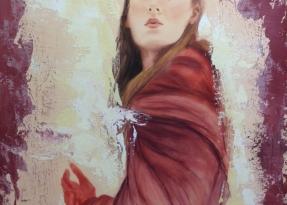 Donna dal mantello rosso